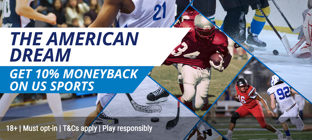 Get 10% of your Net Losses on US Sports, every week!