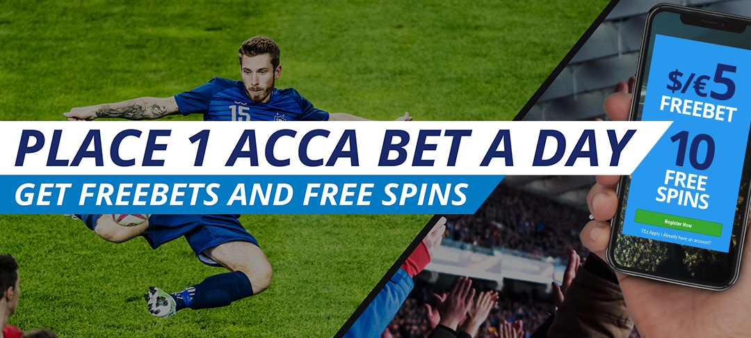 Bet €/$15, Get a €/$5 FreeBet + 10 Free spins every day